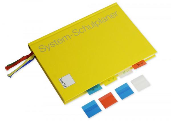 Farbige Register-Taben für Orgahefte und Planer, 12-tlg., selbstklebend