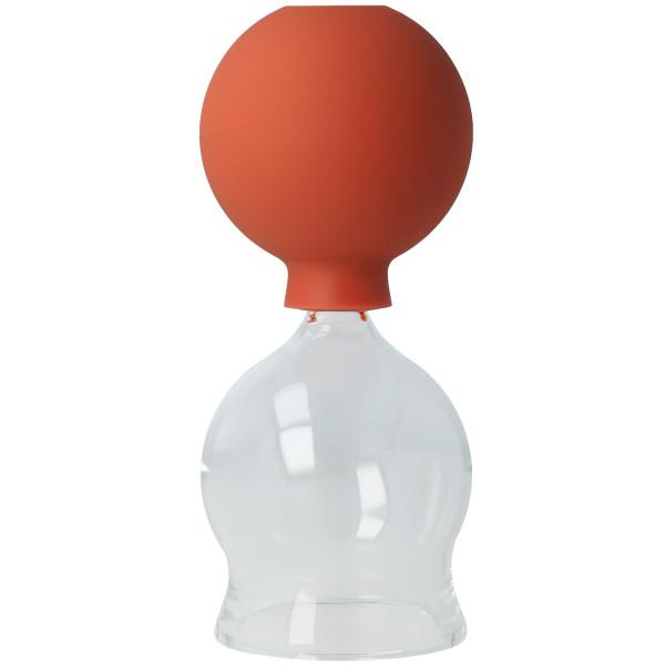 Schröpfglas aus Glas, mit Ball