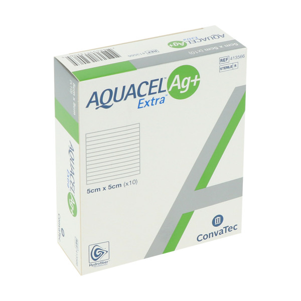 ConvaTec Aquacel Ag+ Extra, silberhaltige Kompressen