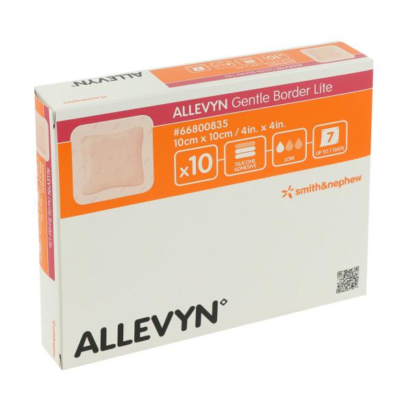 Smith & Nephew ALLEVYN Gentle Border Lite, sanft haftender, antimikrobieller, extra dünner Schaumver