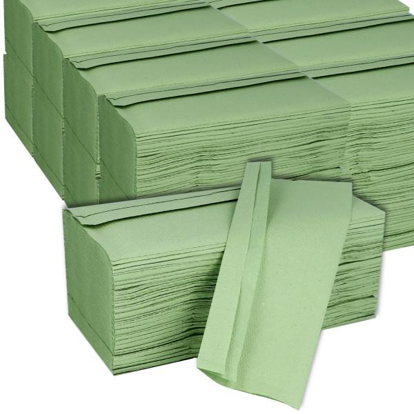 Tork Universal Einweg Singlefold Zickzack Papierhandtücher H3 grün 1-lagig 25x23cm 20x200 St