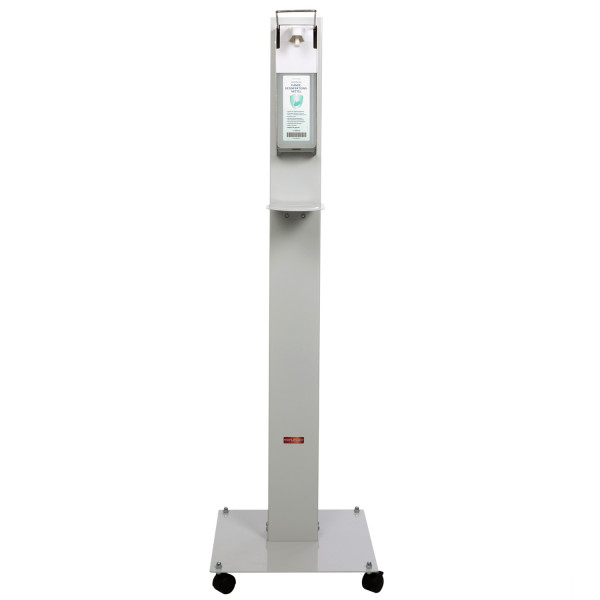 Hygienestation Proficlean M, Hygienesäule mit Armbügelspender und 1000 ml Avitamed Händedesinfektion