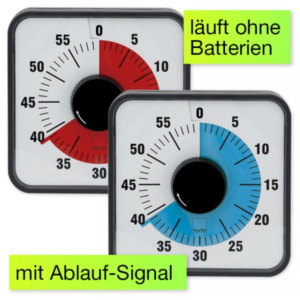 """Zeitdauer-Uhr """"Automatik"""" magnetisch, 19x19 cm mit roter Scheibe"""