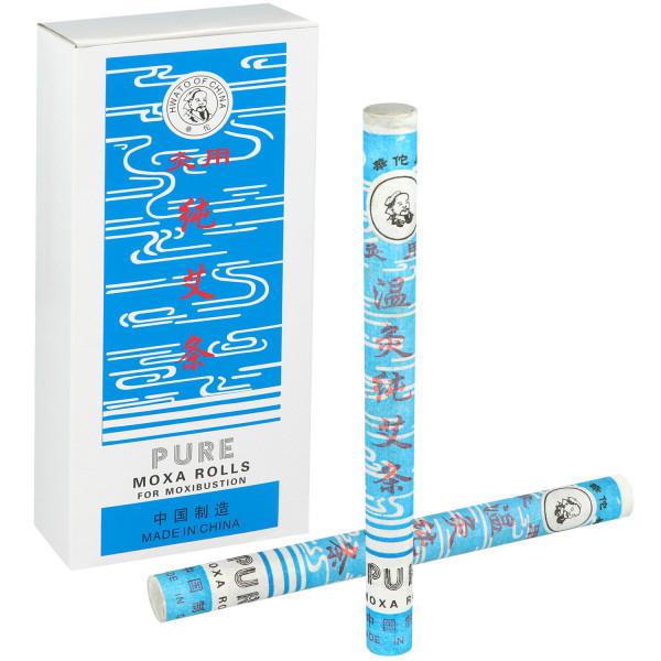 Stangen-Moxa mit Rauch- und Geruchsentwicklung
