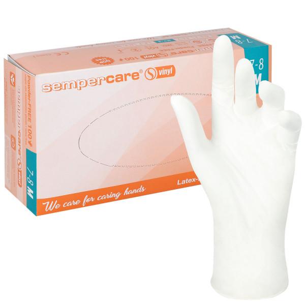 Sempercare Vinyl-Untersuchungshandschuhe, puderfrei, transparent
