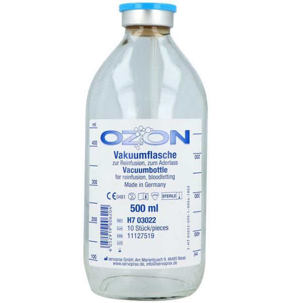 Ozon-Vakuumflasche mit Entlüftung und Aufhängevorrichtung