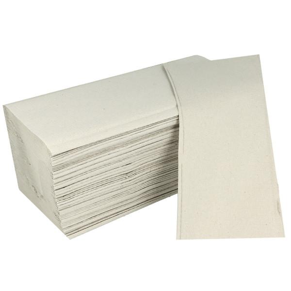 Papernet recycelte Falthandtücher natur V-Falz 1-lag. 25x23cm 20 x 250 Blatt