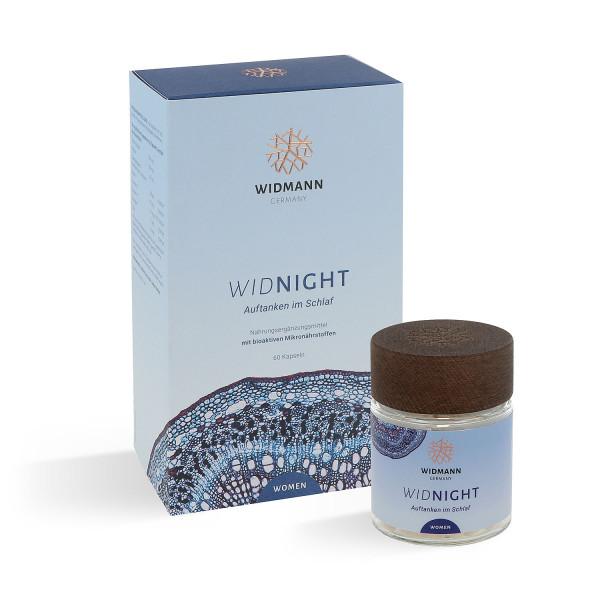 WIDNIGHT Women - Nahrungsergänzungsmittel für Frauen zur Regeneration der Haut in der Nacht