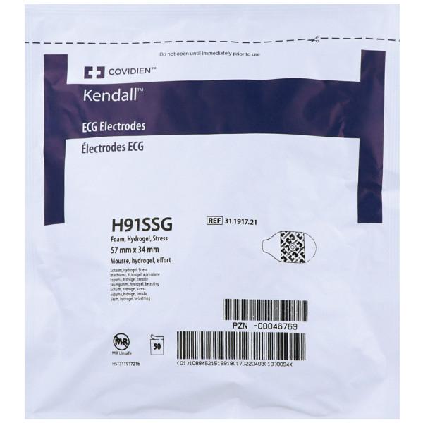 Einmal-Elektroden für Erwachsene, Päd.H91SSG Hydrogel, Schaumstoff