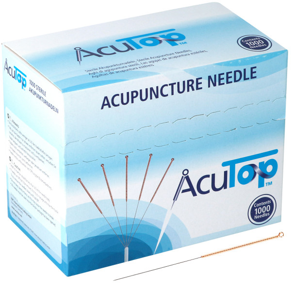 Akupunkturnadeln AcuTop® 5CB Type, mit Kupferwendelgriff, silikonisiert, 1000 St.