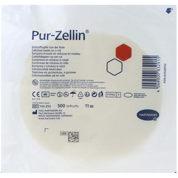 Pur-Zellin® Zellstofftupfer, steril und unsteril, Rolle mit 500 St.