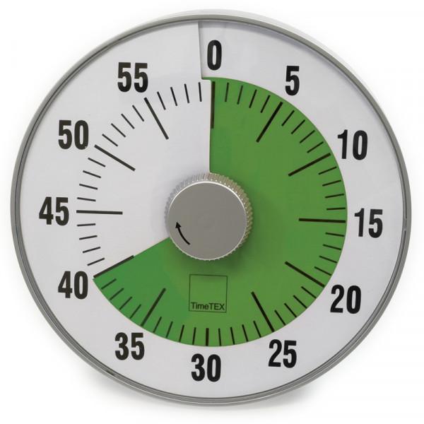 """TimeTEX Zeitdauer-Uhr """"lautlos"""" L, 19 cm ø, grün"""