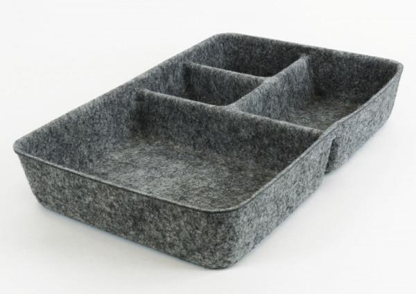 "Tisch-Organizer ""Filzi"" aus Filz, grau"