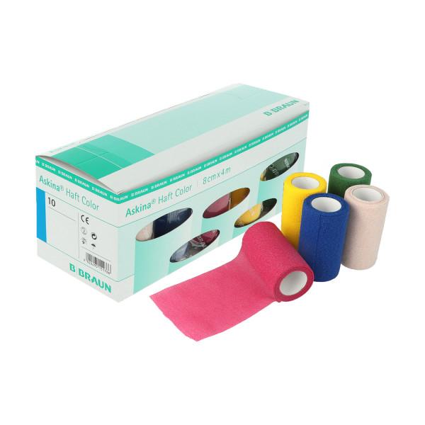 B. Braun Askina® Haft Color Haftbinde Sortimentsbox, 10 St. farbige Haftbinde, verschiedene Farben