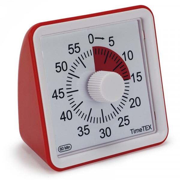 Rückwärtslaufende Uhr - Restzeitanzeiger, Ziffernblatt rot, lautlos