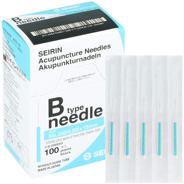Akupunkturnadel Seirin Typ B, mit Kunststoffgriff, silikonbeschichtet, ohne Führrohr, 100 St.