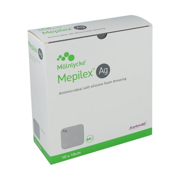 Mölnlycke Health Care Mepilex Ag antimikrobieller Schaumverband mit Silber, steril