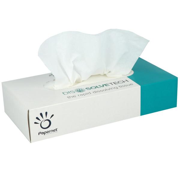 Papernet wasserlösliche Kosmetiktücher weiß 2-lagig 21x20cm 100 Stück