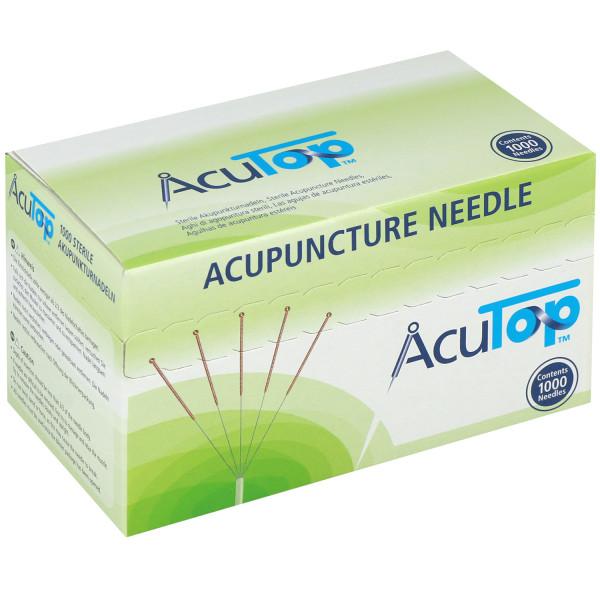 Akupunkturnadeln AcuTop® 5CBs Type, mit Kupferwendelgriff, silikonfrei, 1000 St.