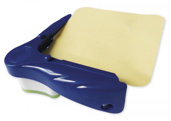 Eckabrunder Plus für Laminierfolien + Papier, blau