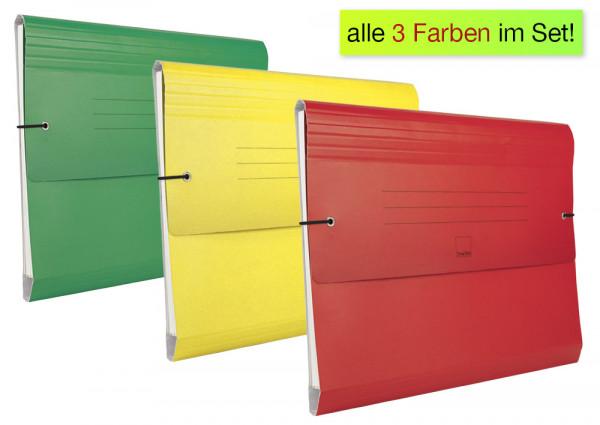 Set Fächermappe aus Pappe A4-Plus, 3-tlg.
