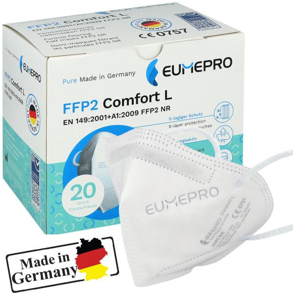 EUMEPRO FFP2 Atemschutzmaske CE0757 20 Stk.