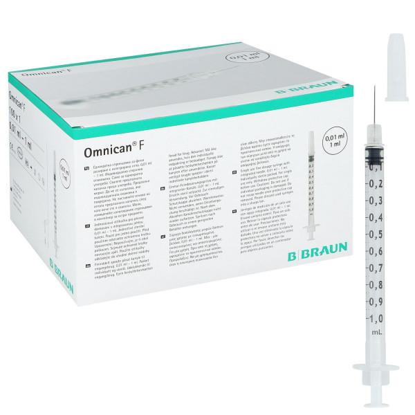 B.BRAUN OMNICAN F Feindosierungsspritzen 1ml Luer mit Kanüle