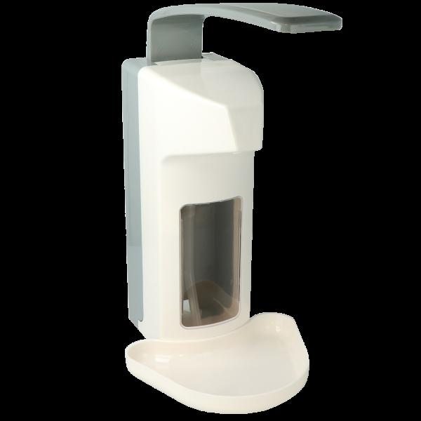 Seifen- und Desinfektionsmittelspender aus Kunststoff/Armhebelspender