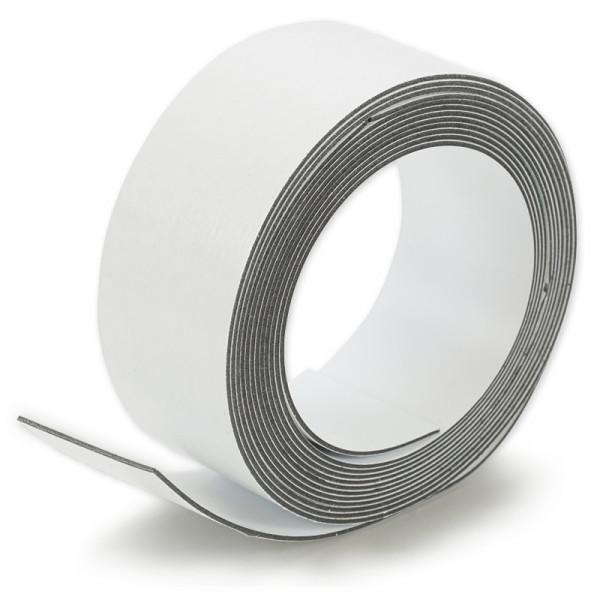 Sehr flexibles Haftstreifenband für Magnete, selbstklebend, 10 m x 35 mm