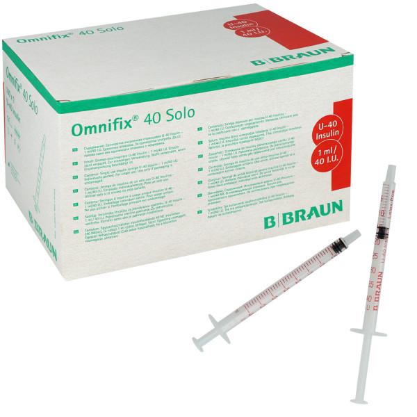OMNIFIX Solo Einmal-Insulinspritze für U-40-Insulin, 1 ml, zur subkutanen Insulininjektion von B. Br