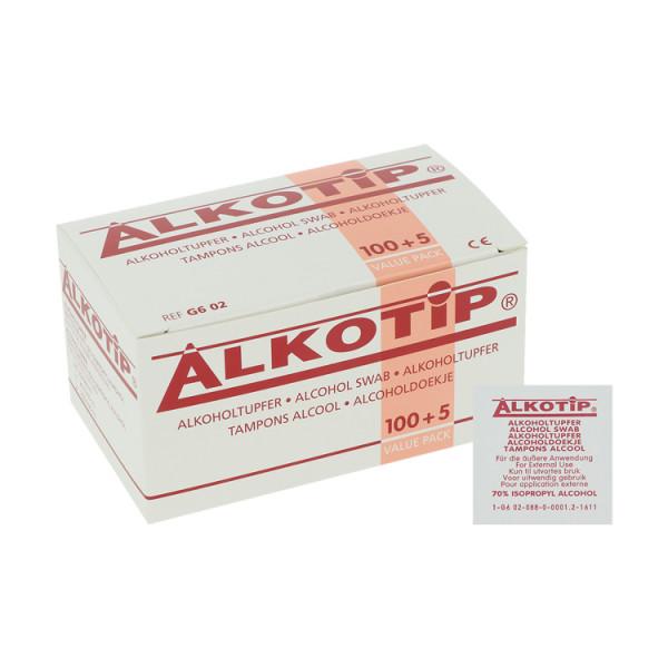Diaprax Alkotip Standard Alkoholtupfer 65x30mm, 100 Stück