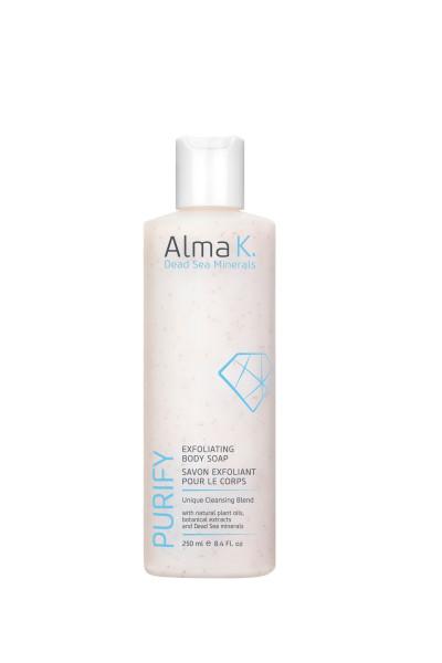 Alma K. Dead Sea Minerals pflegend, glättende Peeling Körperseife 250 ml