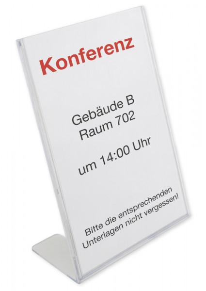 Tisch-Display, Dokument-Anzeiger, Hinweisschild, Hinweistafel, DIN A4 aus Acrylglas