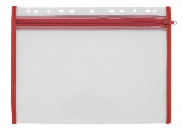 Stabile Reißverschluss-Tasche für bis zu DIN A4 mit Abheftfunktion