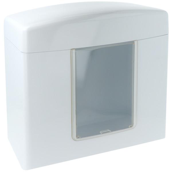Handtuchspender aus ABS-Kunststoff, mit Fenster, abschließbar
