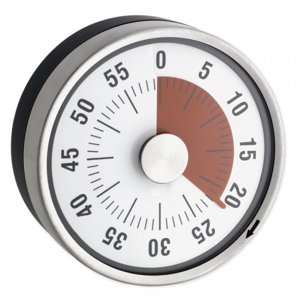 """Zeitdauer-Uhr """"Automatik"""" Compact mit Magnet - mit roter Scheibe"""