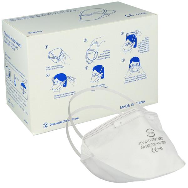 FFP2-Atemschutzmaske NR D ohne Ventil, mit Nasenbügel außen, von Nitras
