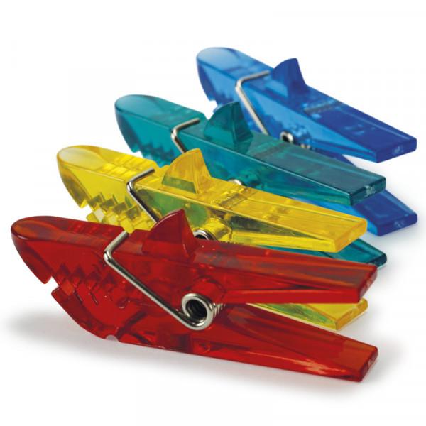 "4 Magnet-Kunststoff-Klammern, Modell ""Haifisch"""