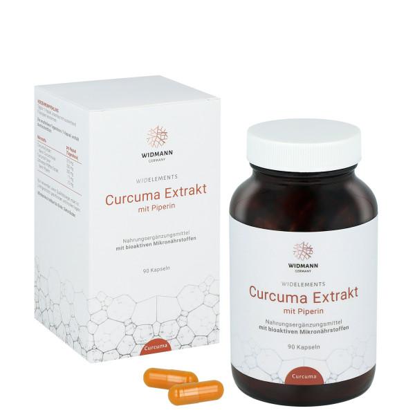 WIDELEMENTS Curcuma Extrakt mit Piperin – entzündungshemmend, antioxidativ